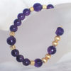 """Dark Purple Gold"" Amethyst Armband Silber vergoldet"
