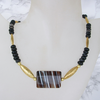 """Black Spirit"" Sardonyx Gold Collier"