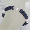 """Blue Dark Night"" Saphir Silber Armband"
