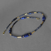 """Elves Night"" Lapislazuli Saphir Collier vergoldet"