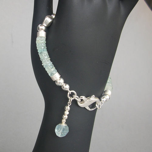 """Light Blue Heaven"" Aquamarin Silber Armband"