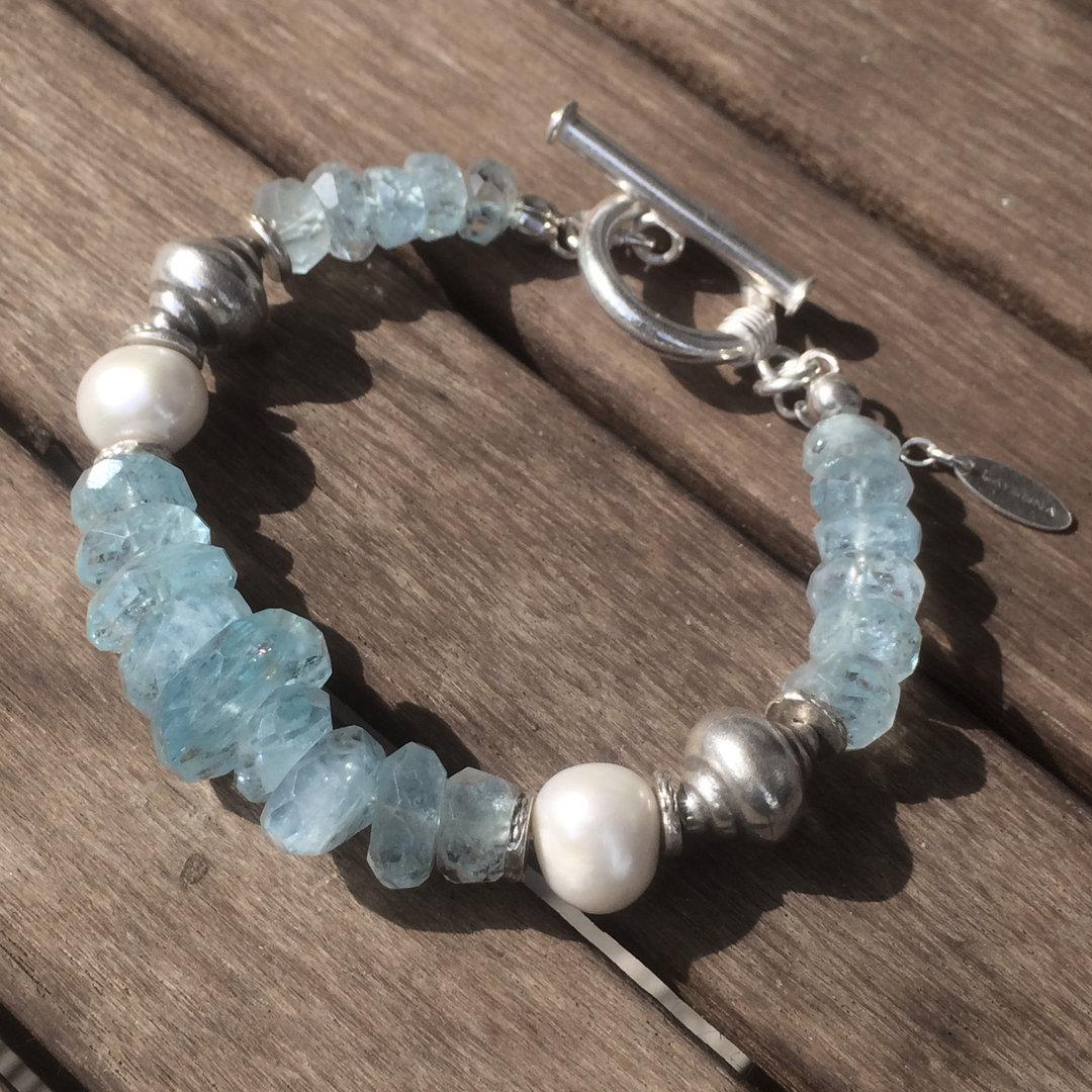 beach summer love aquamarin perlen silber armband schmuck. Black Bedroom Furniture Sets. Home Design Ideas