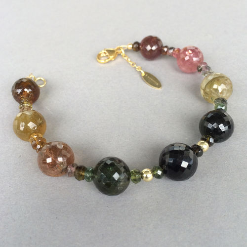 """Multicolour Dream"" Turmalin Armband 585er Gold"