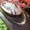 """Green Pink Berry"" Peridot Turmalin Collier"